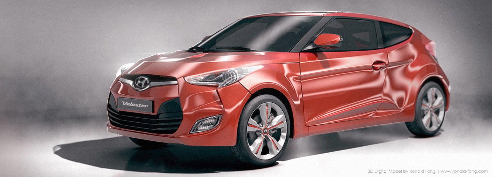 Hyundai Veloster 3D Model Render