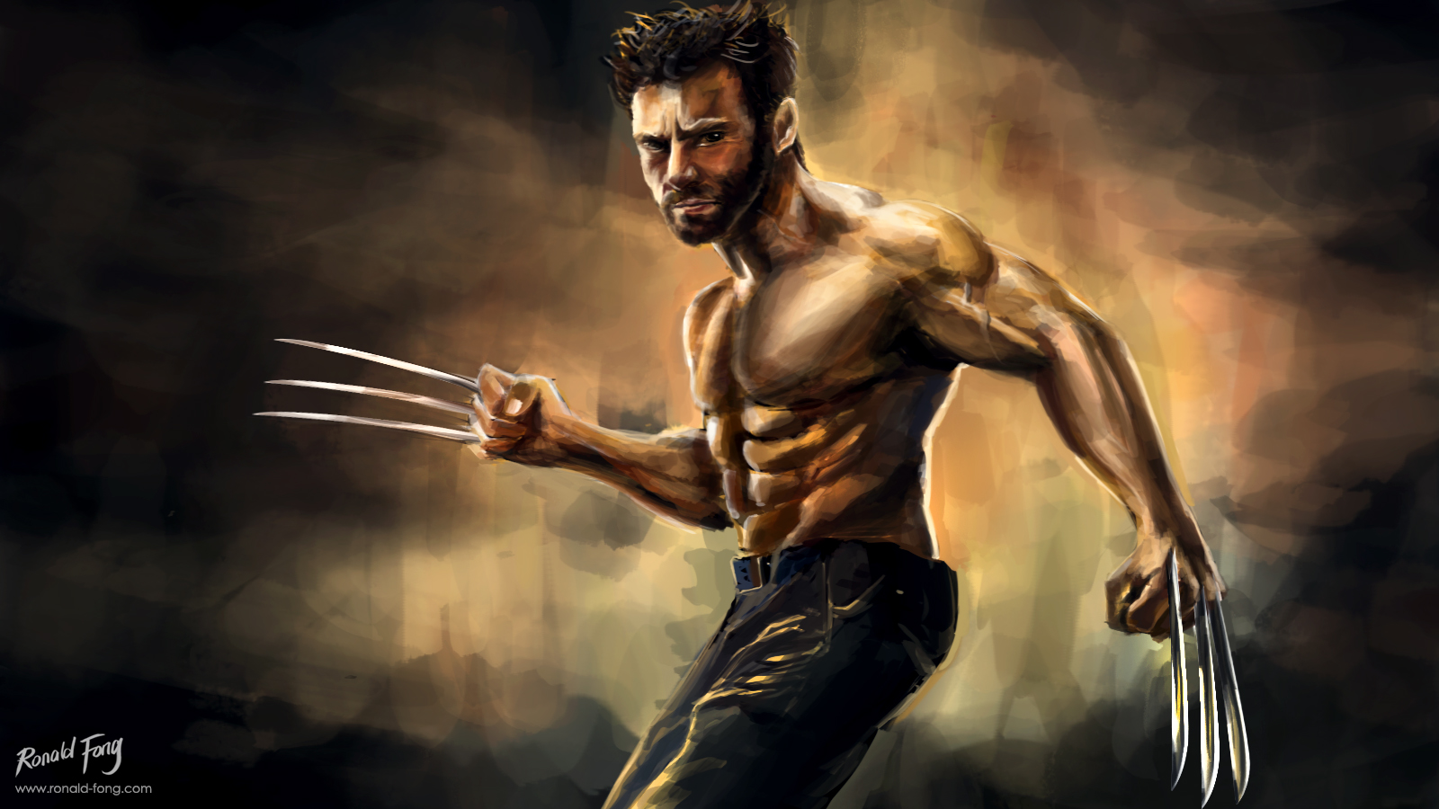 The Wolverine Digital Painting Ronald Fong