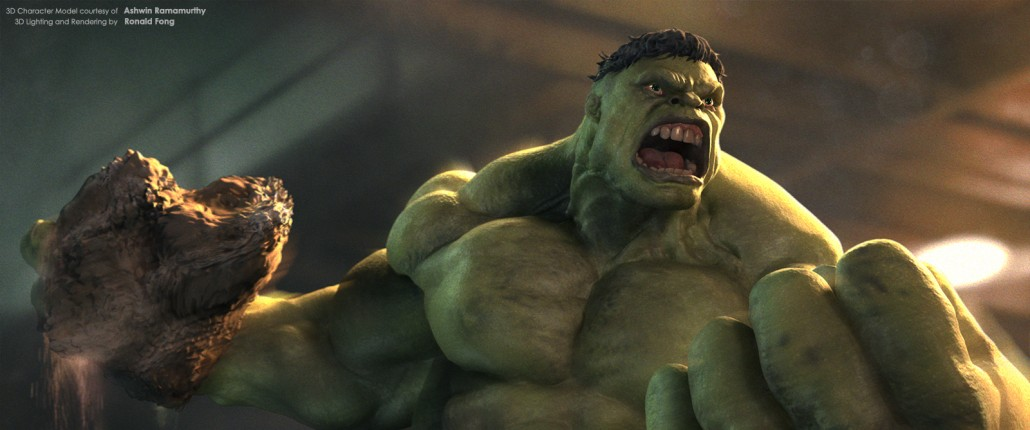 The Incredible Hulk by Ronald Fong