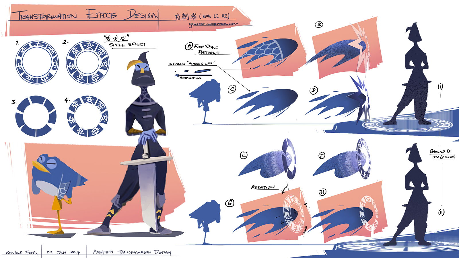 Assassin Transformation Design for You Ci Ke