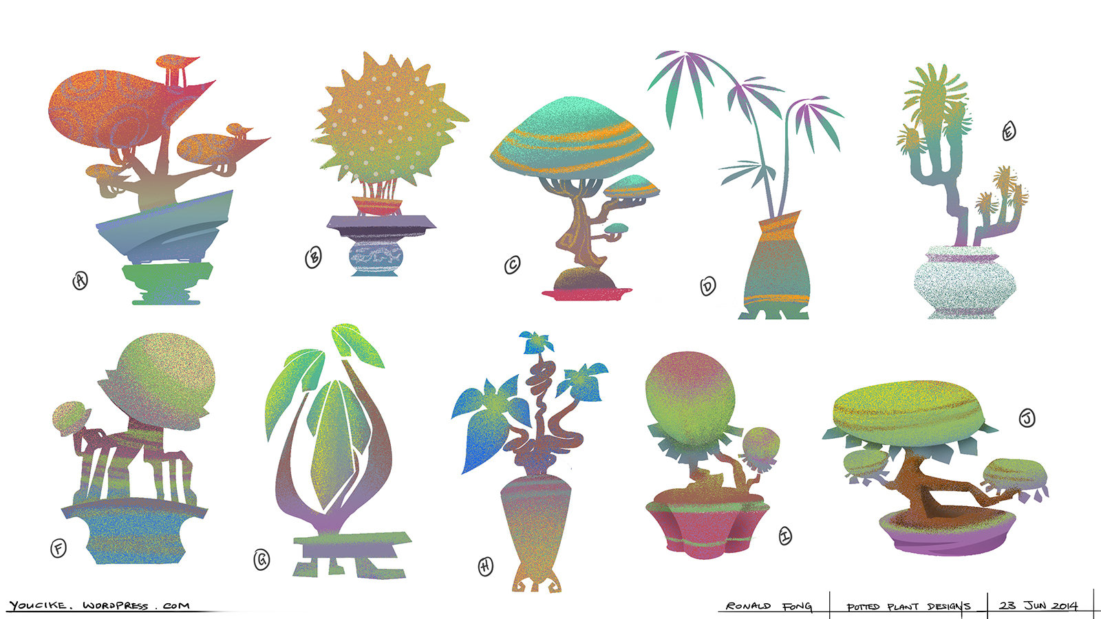 Potted Plants Visual Development for You Ci Ke
