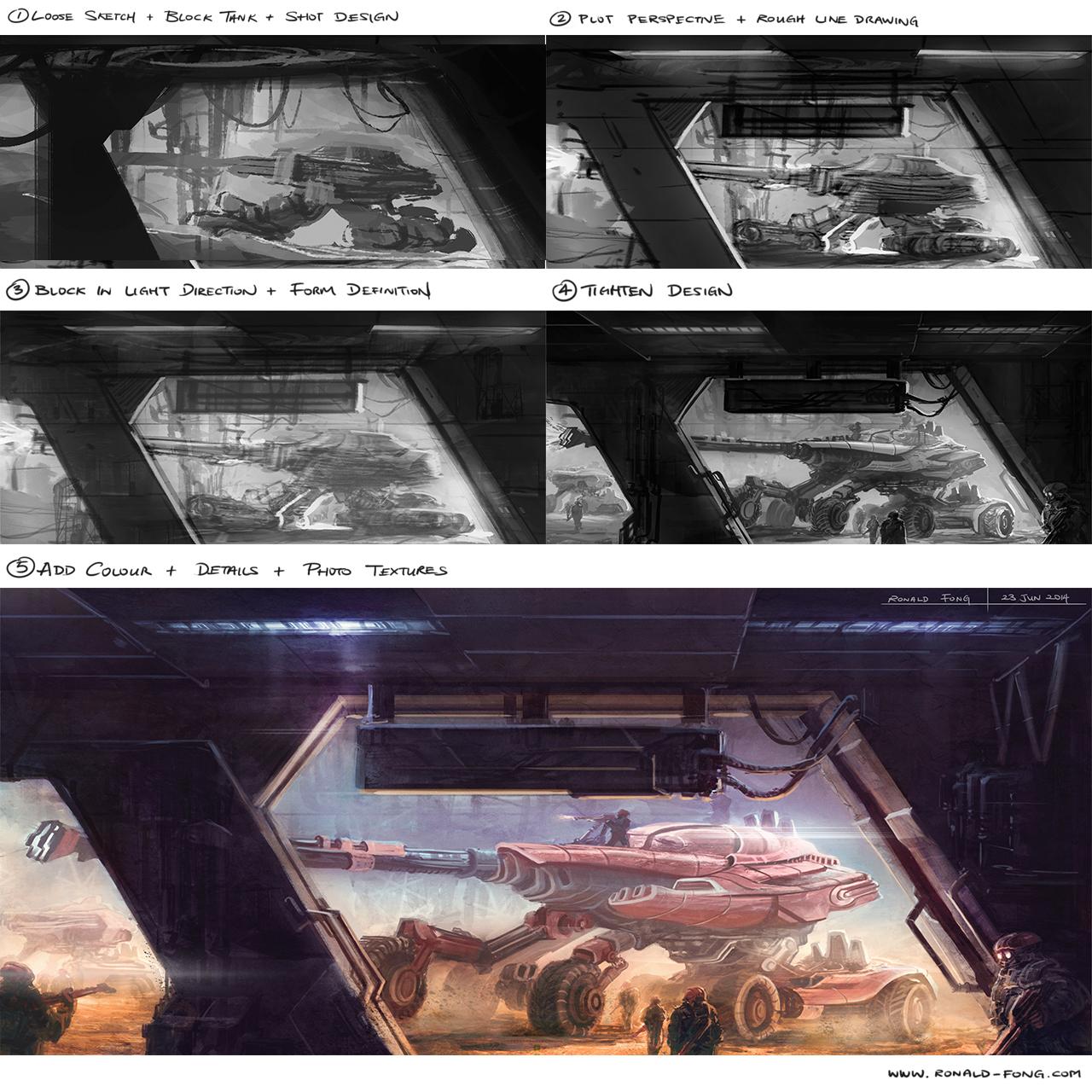 Tank Concept Design Progress Stills
