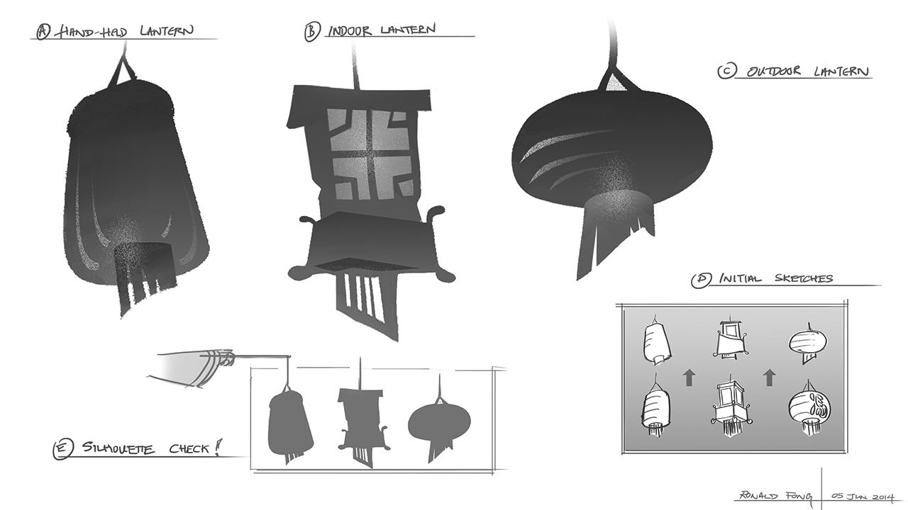 You Ci Ke - Visual Development of Lantern