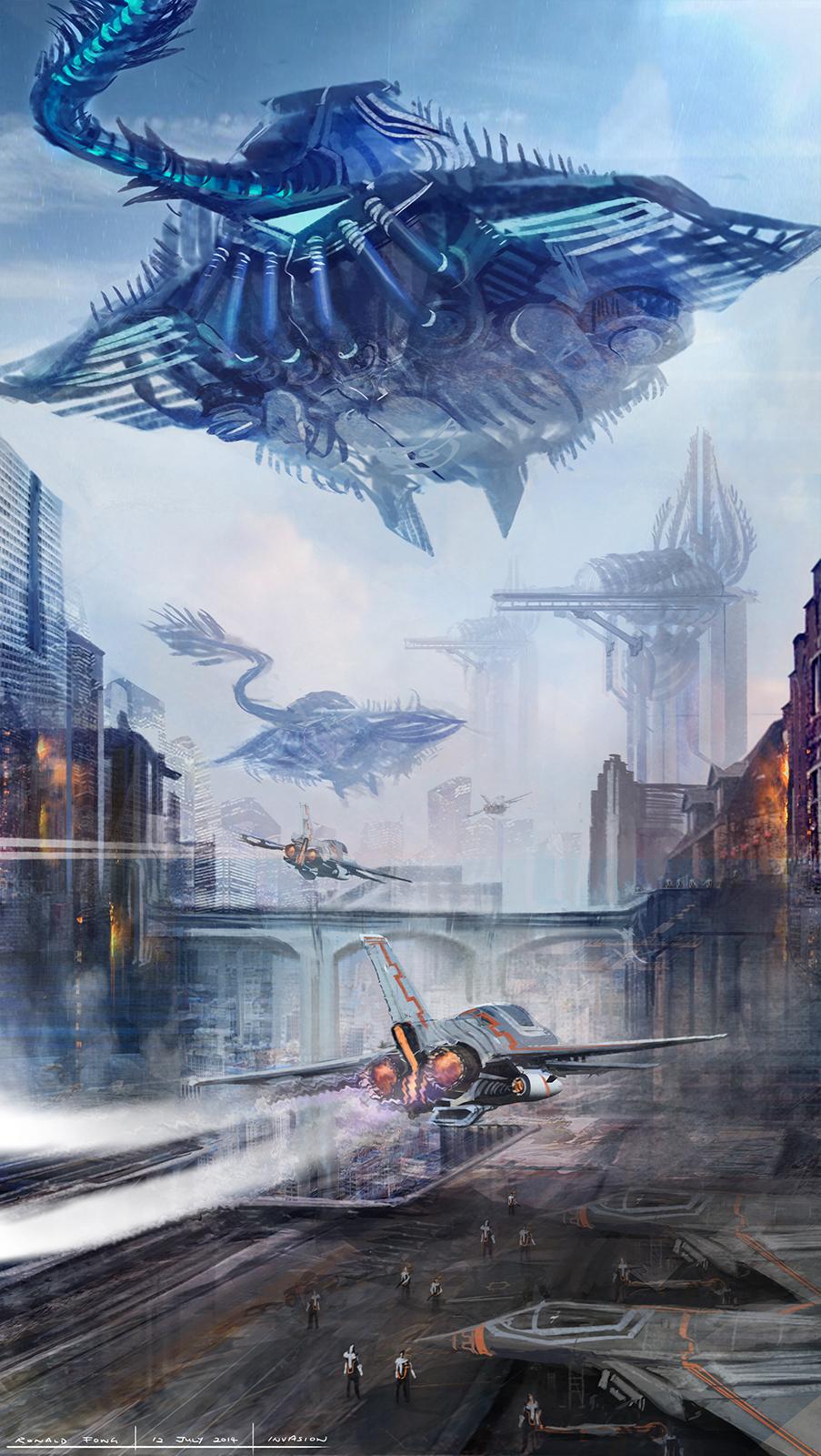 Alien Stingray Spaceship