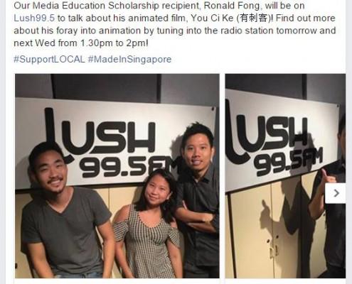 MDA supports Ronald Fong Animation on LUSH 99.5 FM Cartoons Underground Radio Interview