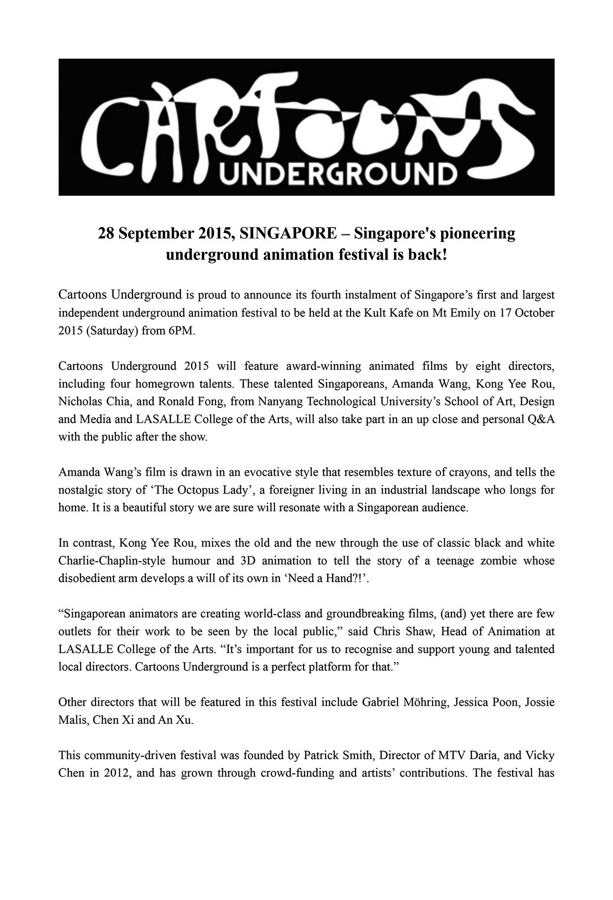 press release CU 2015