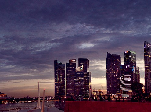 Singapore Nightscape from Esplanade Ronald Fong