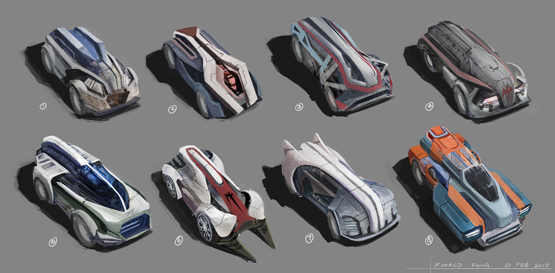 Concept Cars by Ronald Fong