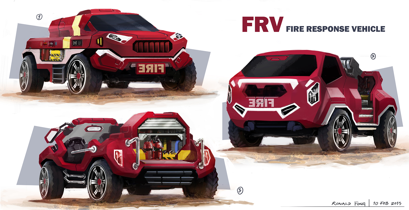 Ronald Fong Fire Response Vehicle Singapore