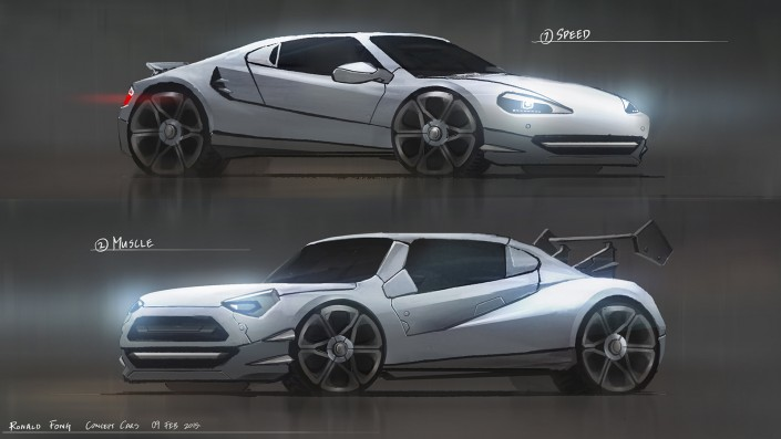 Ronald Fong Sports Car Concept Design Singapore