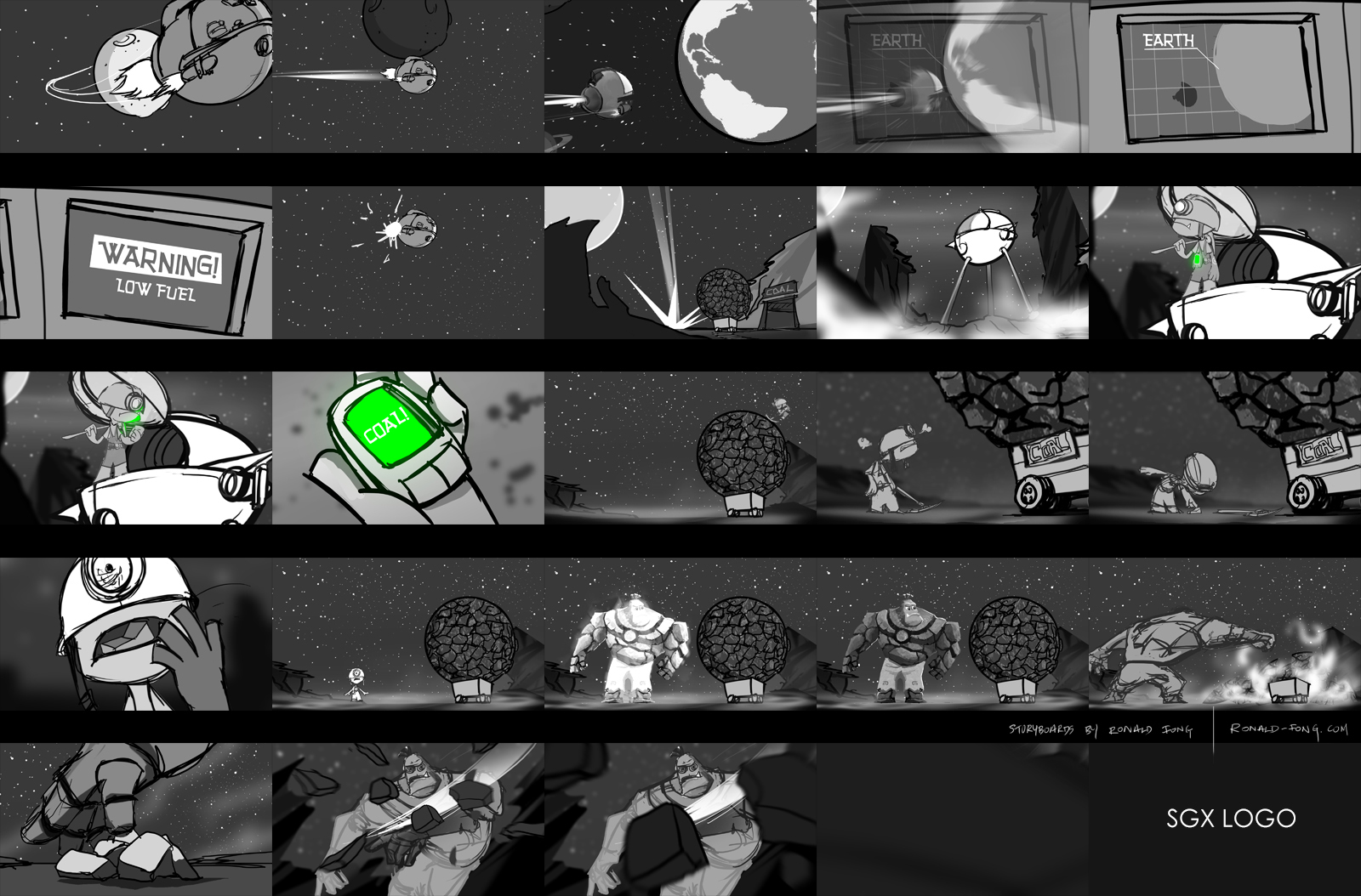 SGX Animation Storyboards by Ronald Fong
