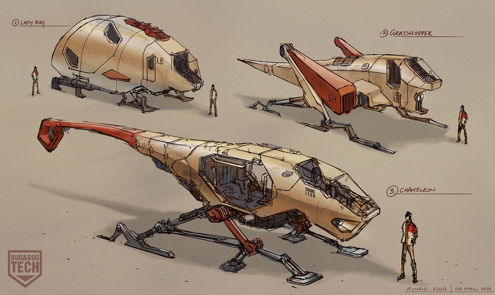 Ronald Fong Bug Vehicle Concept Art