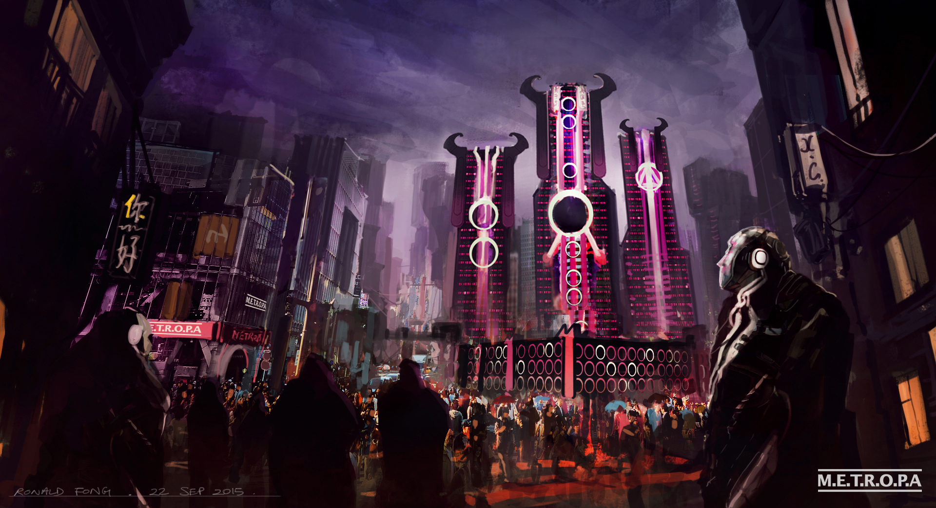 Sci-fi City Concept Art Ronald Fong B