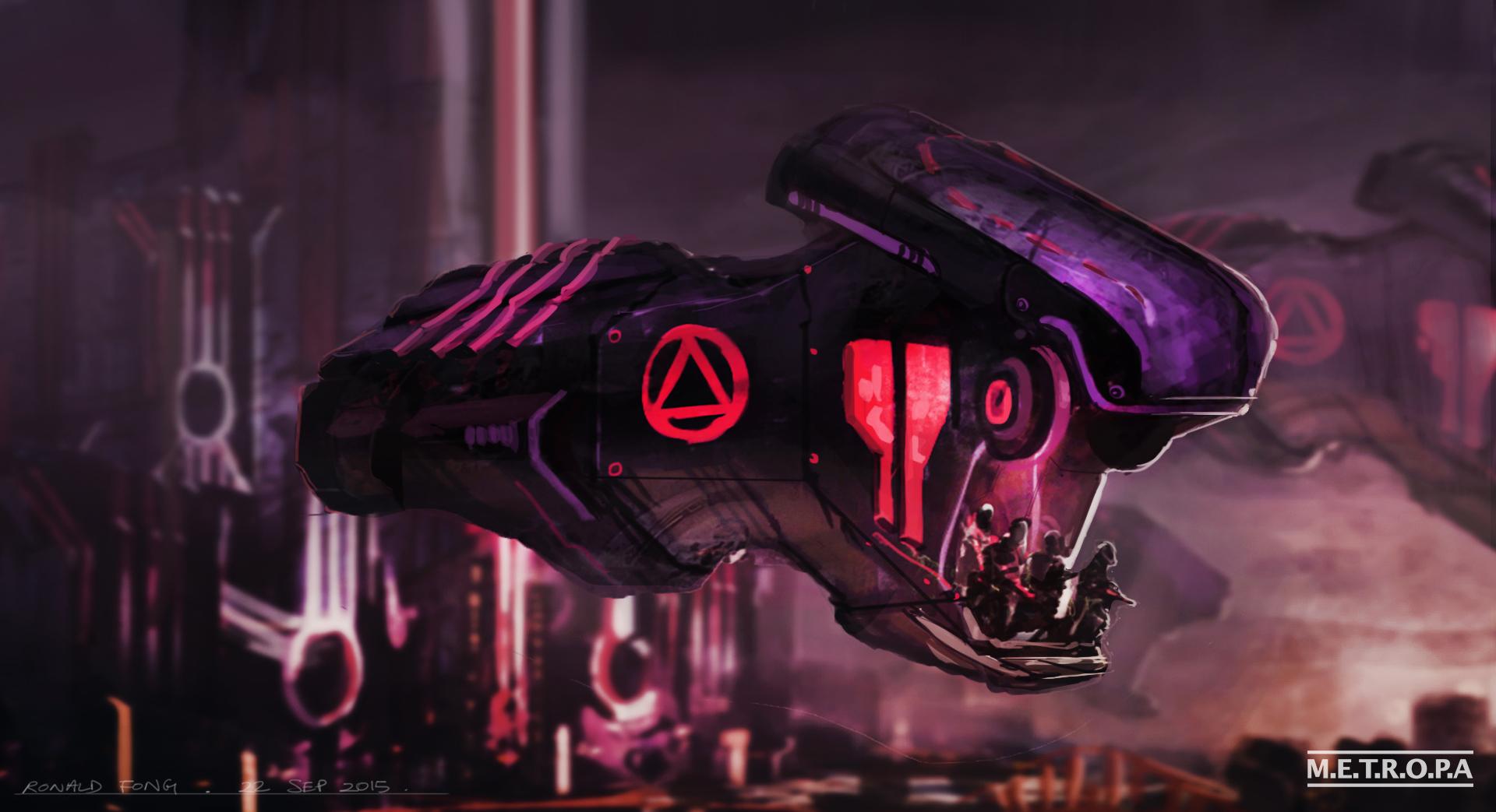 Sci-fi City Concept Art Ronald Fong C