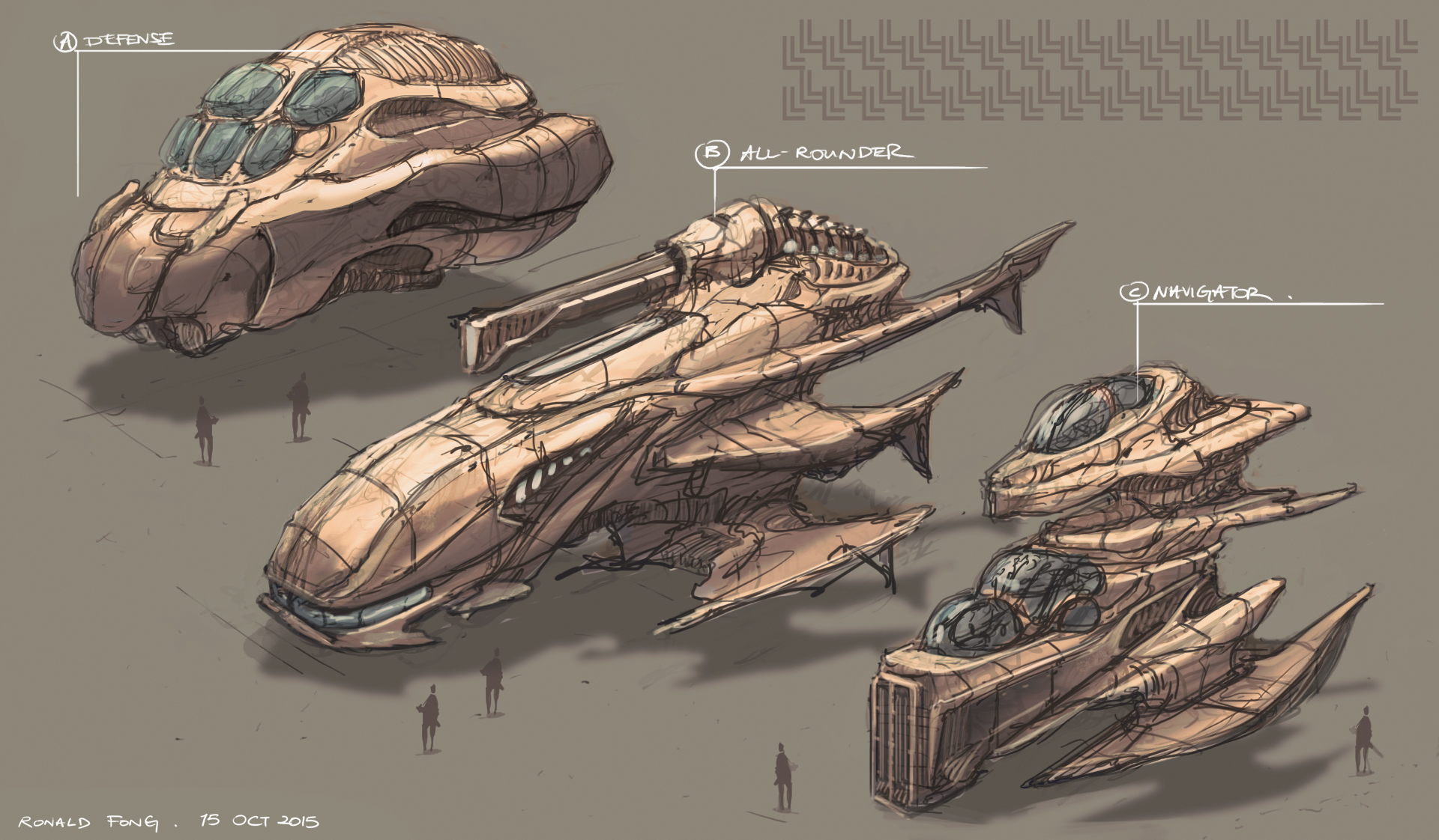 Rustic Spaceship Concept Art Ronald Fong