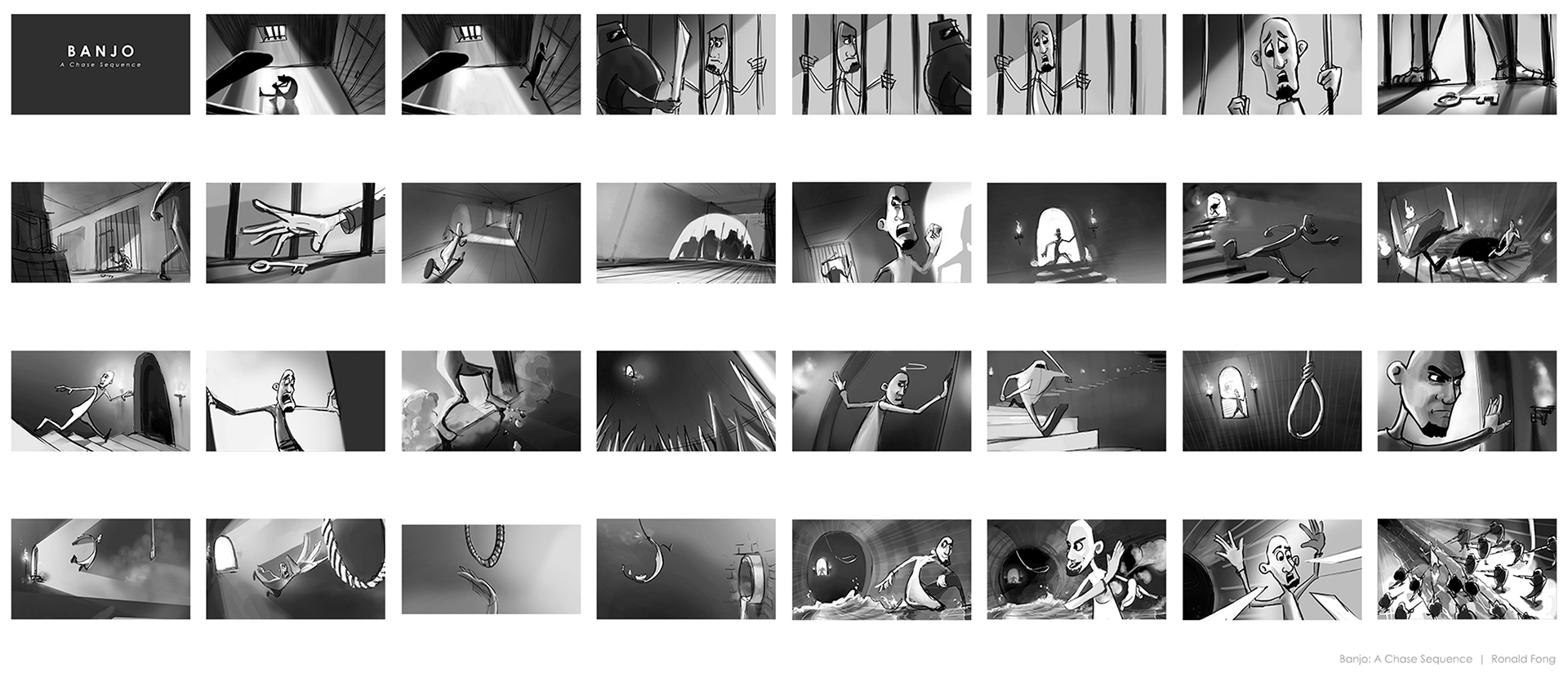 Banjo Animation Sequence Storyboards