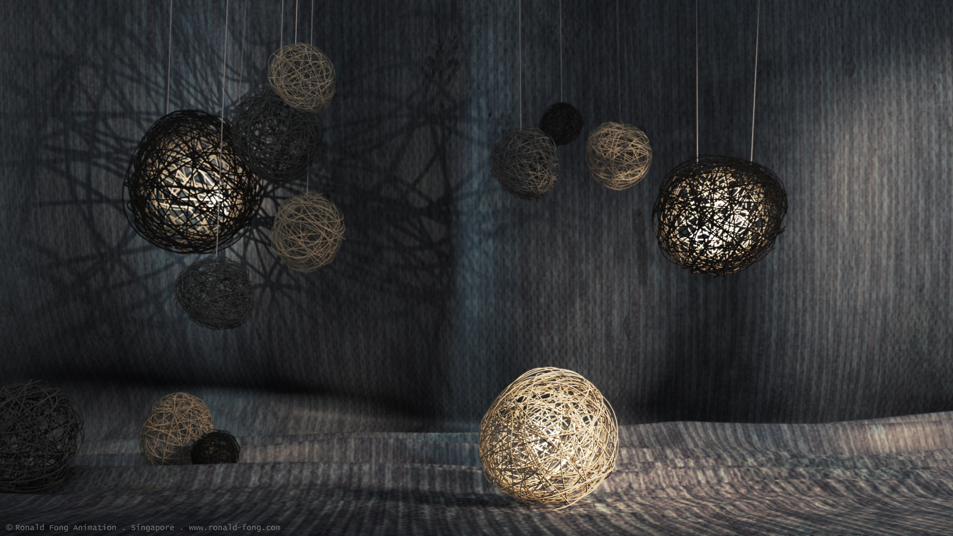 Wire Yarn CG Light Design by Ronald Fong
