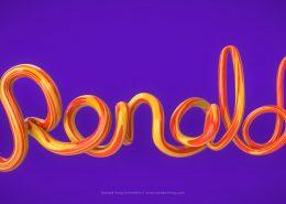 Ronald 3D Text