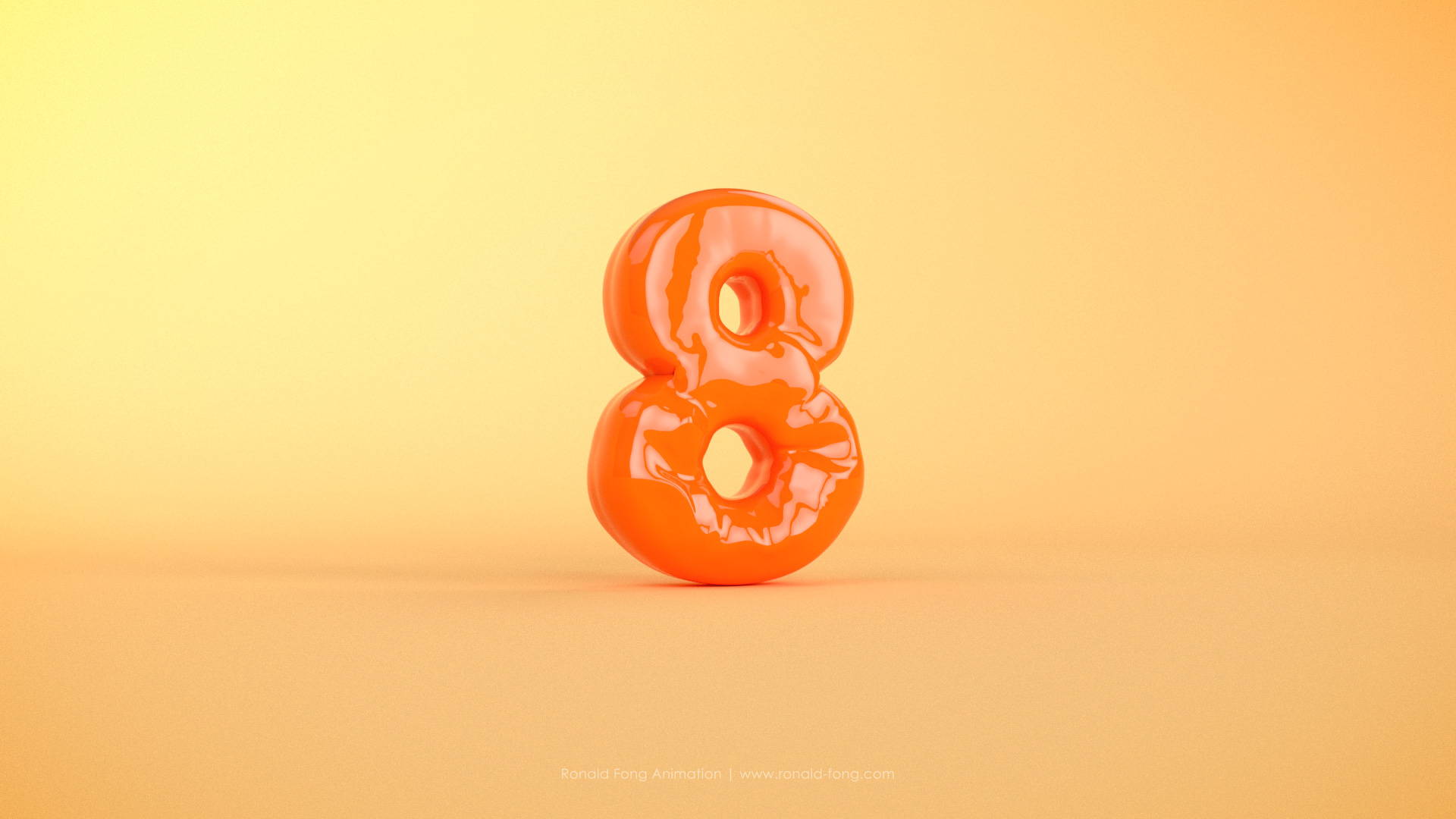 Ronald Fong - Eight 3D Balloon Text