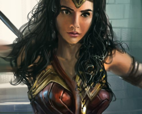 Wonder Woman Ronald Fong Painting Faces Everyday Day 04 of 30