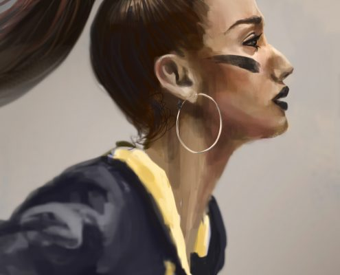 Ronald Fong Painting Faces Everyday Day 06 of 30