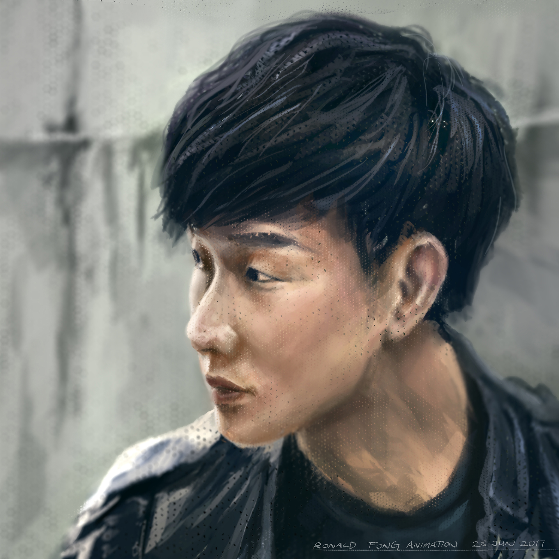 JJ Lin Digital Painting - Ronald Fong Painting Faces Everyday Day 10 of 30