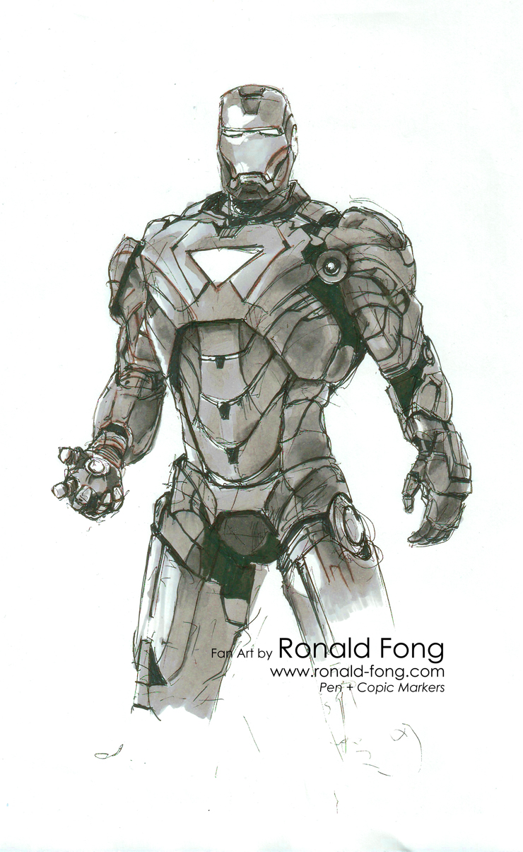 iron man mark vi fan art – ronald fong